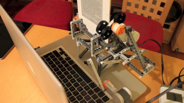 Professor builds LEGO robot that strips DRM from Kindle books     lego robot strips drm from ebooks kindle