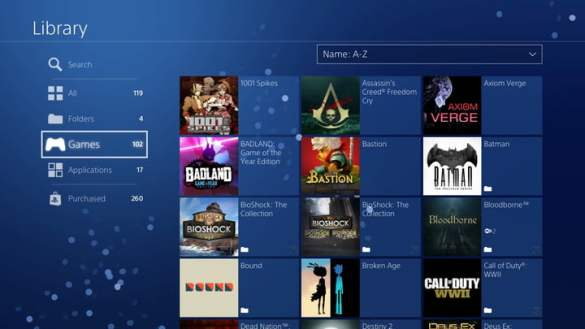 How to Organize Your PS4 Game Library Using Folders   Digital Trends Between physical game installs  all those digital games you ve picked up on  sweet deals  and a steady stream of PlayStation Plus freebies  your  PlayStation
