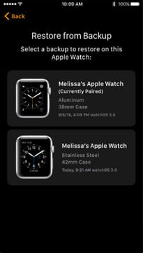 how to back up apple watch restore from 3