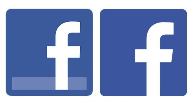 The Facebook logo takes on a simpler, cleaner look ...