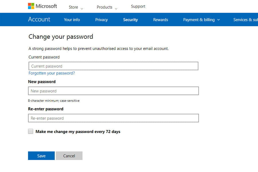 come cambiare la tua password outlook microsoftsecurity02