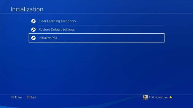 how to factory reset a ps4 playstation 4 initialization