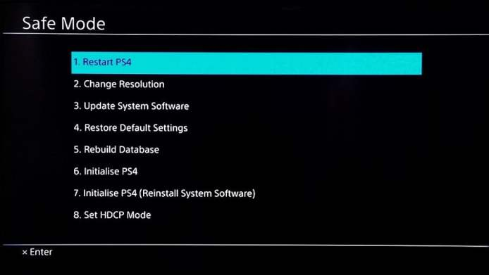how to factory reset a ps4 playstation 4 safe mode