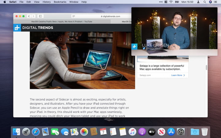 MacOS Catalina Picture in Picture