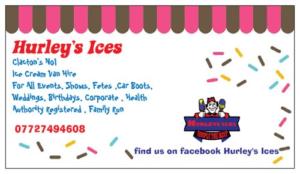 Hurleys Ice Cream Business Card