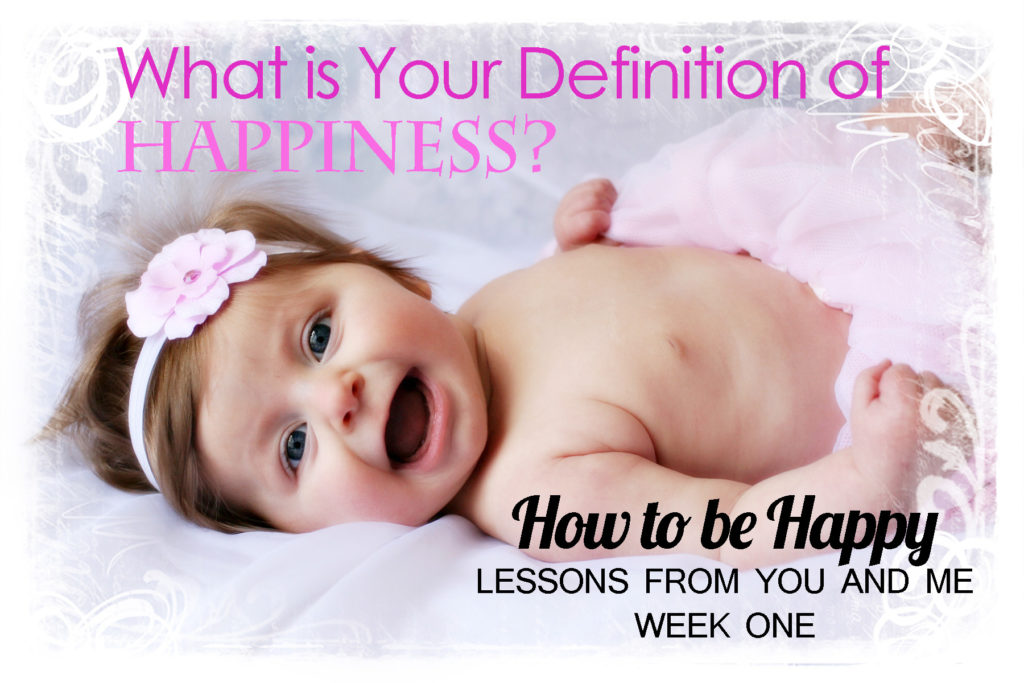 How to be Happy--Week One. Everybody wants to be happy, yet so few people actually are. What is happiness, anyway? This is the first article in a series about happiness. Each article in the series has practical steps to take in key areas of your life to increase your happiness.