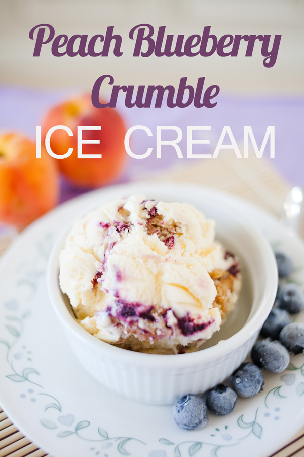 Are you looking for a new, amazing way to use your peaches? Make this sigh-worthy ice cream using fresh peaches, blueberries, and a crumble topping for a showstopping dessert!