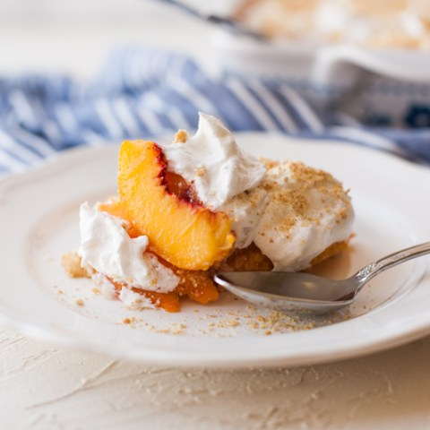 Peach Torte (No-Bake Peach Dessert)