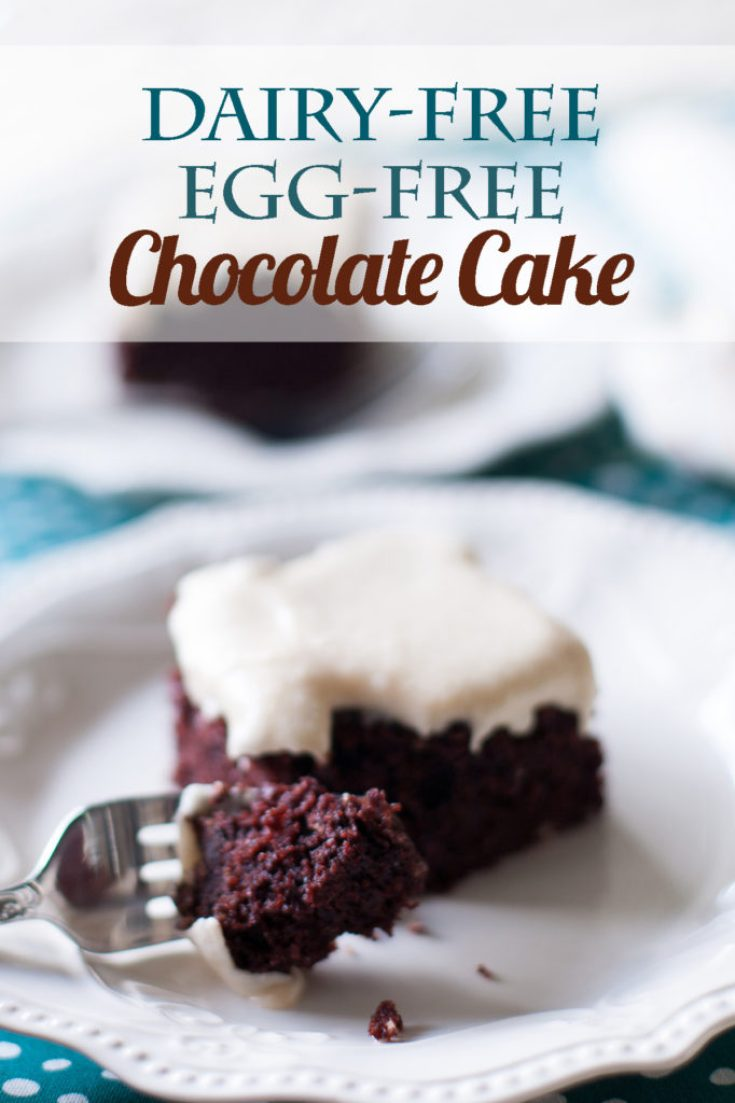 Dairy-free, Egg-free Chocolate Cake. A vegan chocolate cake recipe that will be your new favorite, whether you are vegan or not!