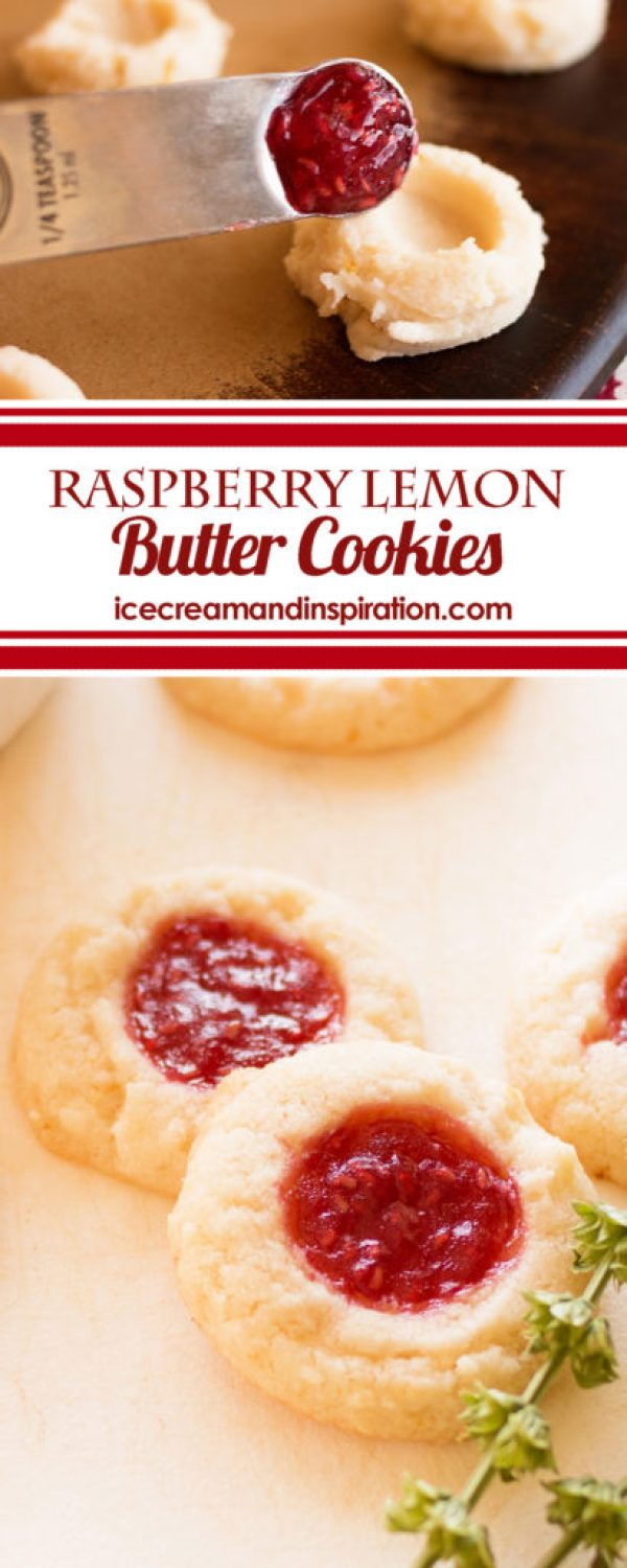 Dress up your lemon butter cookies with some gorgeous, tasty raspberry jam and zesty lemon! This recipe for Raspberry Lemon Butter Cookies is one you don't want to miss!