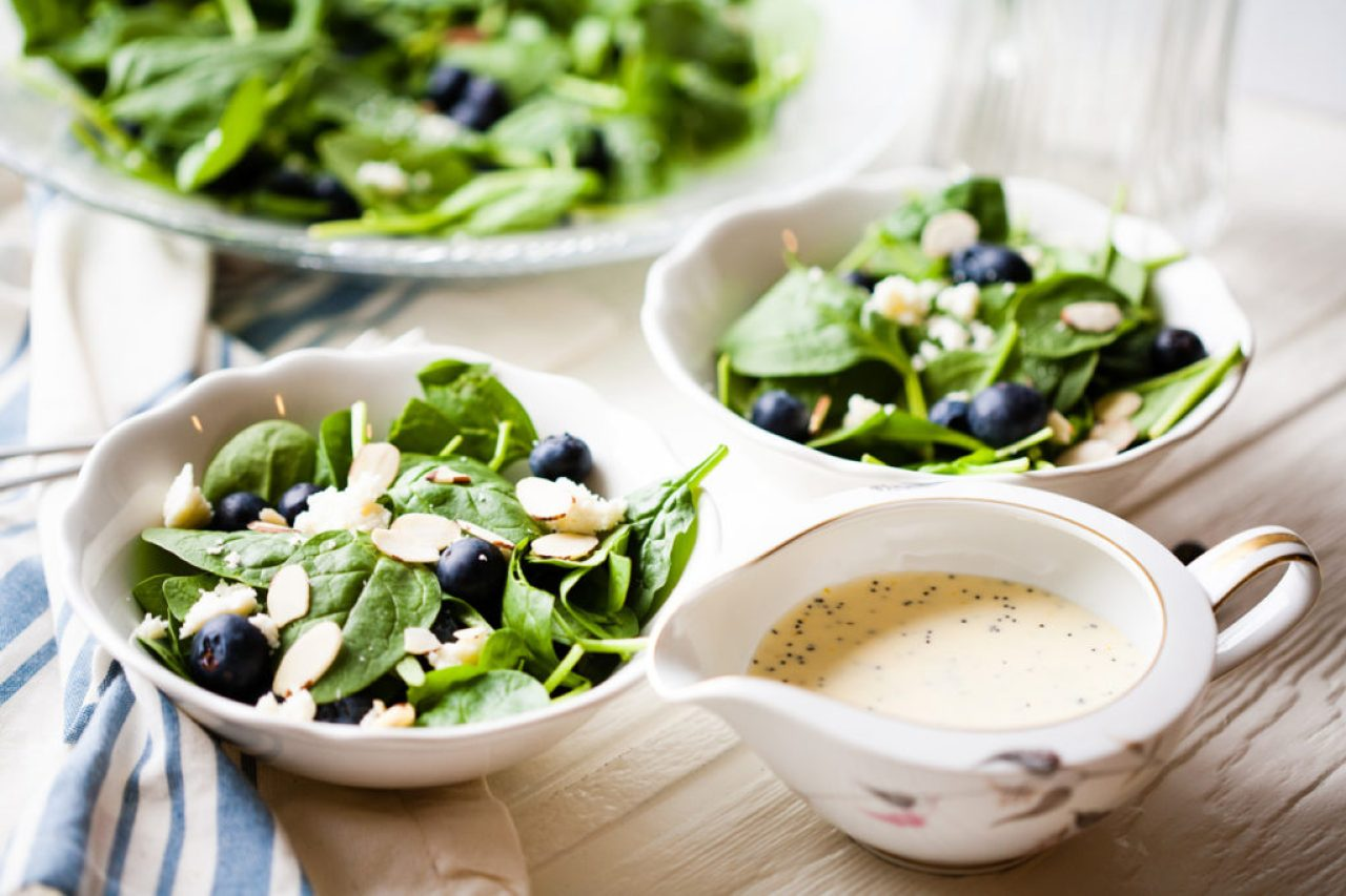 This super-food Spinach Blueberry Salad with Orange Poppy Seed Dressing is amazingly delicious and healthy. Cannot get any yummier than this!