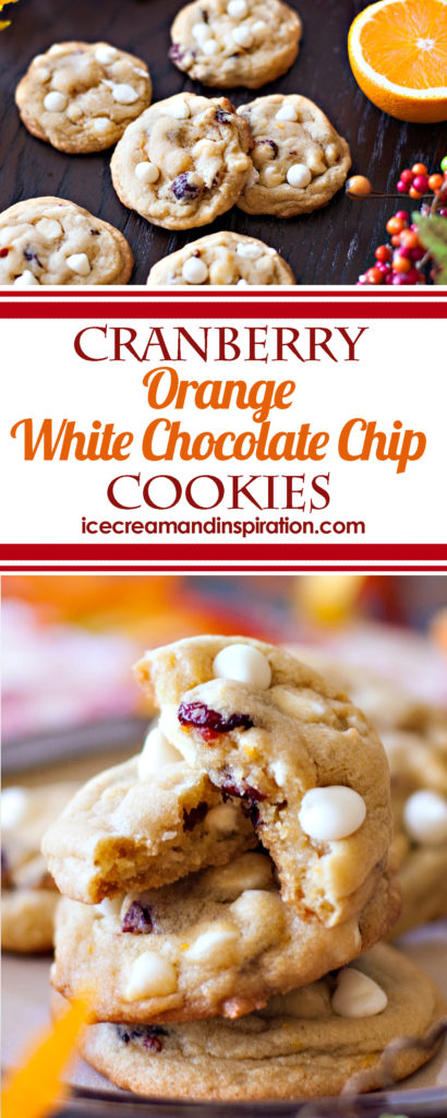 These Cranberry Orange White Chocolate Chip Cookies are loaded with the tangy flavors of dried cranberries and orange zest, along with mellow white chocolate chips. Soft, chewy centers with crisp edges make these cookies one holiday treat you can't miss!