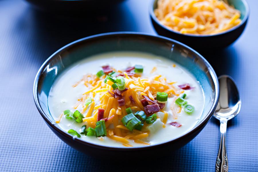 Loaded Creamy Potato Soup