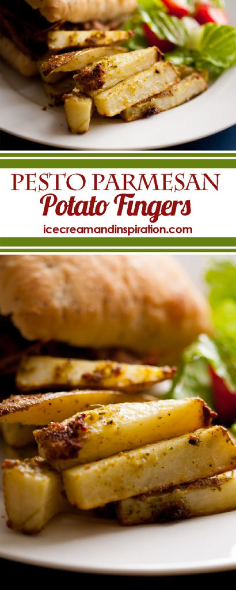 These Pesto Parmesan Potato Fingers are the perfect side for almost any meal and can be ready after a short 30 minutes in the oven! Made with pesto, dry ranch dressing, and other delicious spices, they will become a new family favorite!