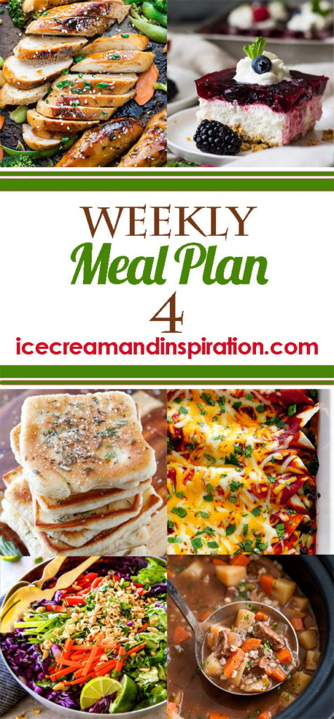 This week's meal plan has recipes for Slow Cooker Beef Barley Soup, Sheet Pan Teriyaki Chicken and Vegetables, Philly Cheesesteak Mac and Cheese, Creamy Lemon Chicken, and more! Plus, recipes for bread and dessert.
