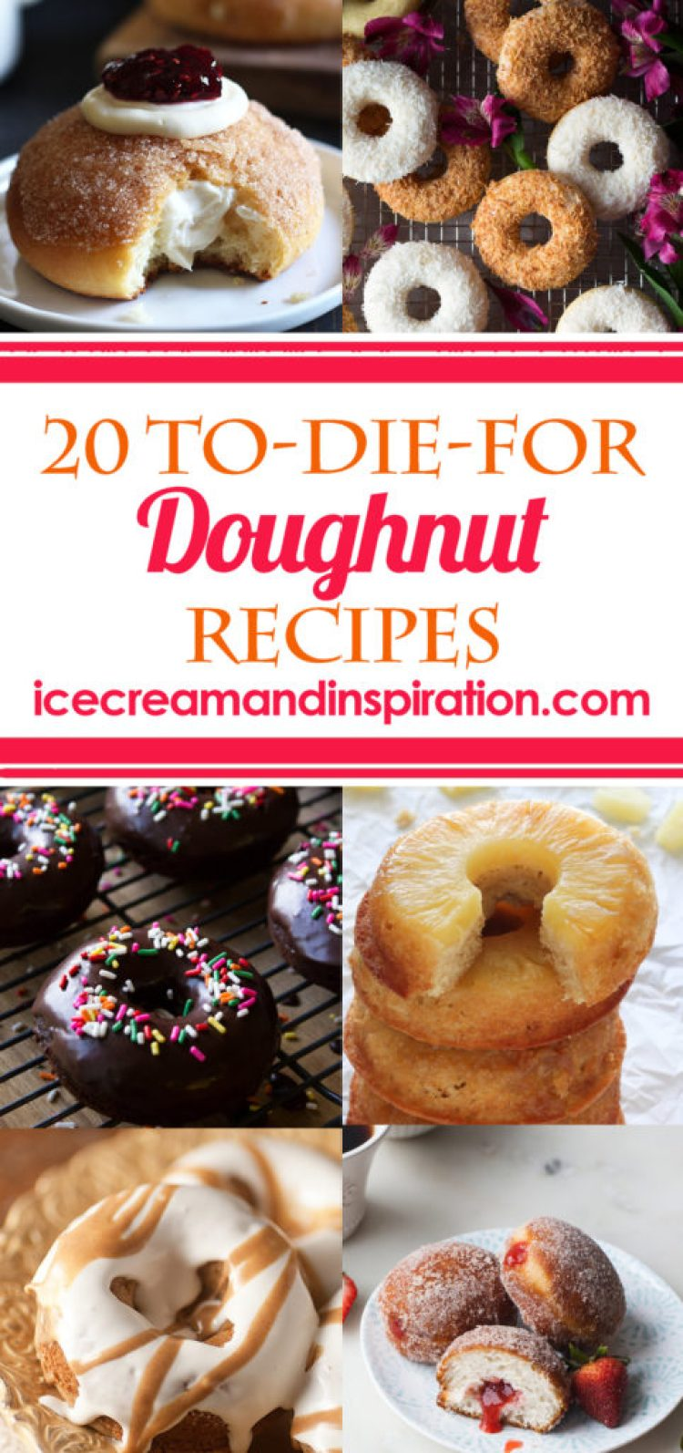 The ever popular doughnut. Is it a breakfast food? Is it a dessert? Who cares! Whether they are fried or baked, filled or frosted, doughnuts have captured the hearts (and stomachs) of Americans for years. Check out this list of 20 homemade doughnut recipes. Some are classic, and some are unusual, but all are delicious!