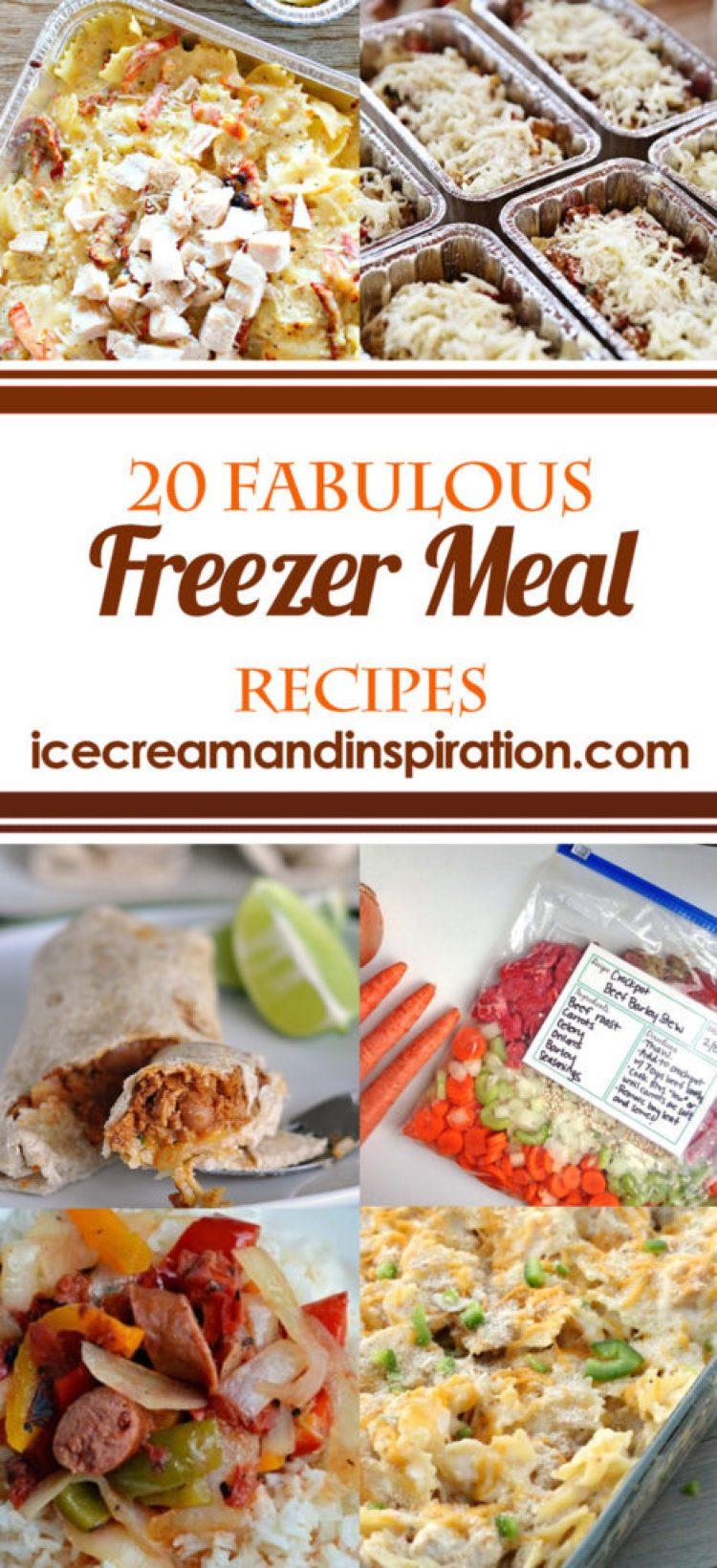 These 20 Fabulous Freezer Meals make back-to-school a breeze! Whip up a bunch of these to keep in your freezer for those super busy days when you don't have time to cook!
