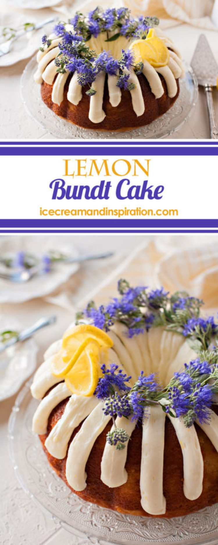 This tender Lemon Bundt Cake made from scratch is full of lemon flavor from real lemons and decorated with lemon cream cheese frosting. It's the perfect cake for any occasion!