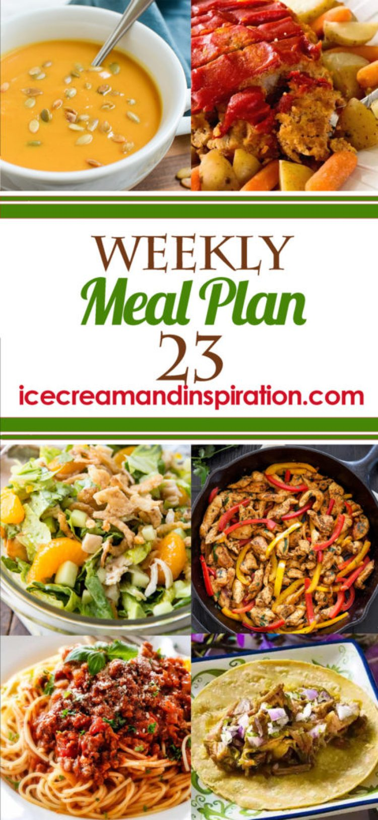 This week's meal plan has recipes for Spaghetti Bolognese, Sheet Pan Philly Cheesesteak, Indian Pulled Pork Tacos, Crock Pot Meatloaf and Veggies, and more! Plus, recipes for bread and dessert.
