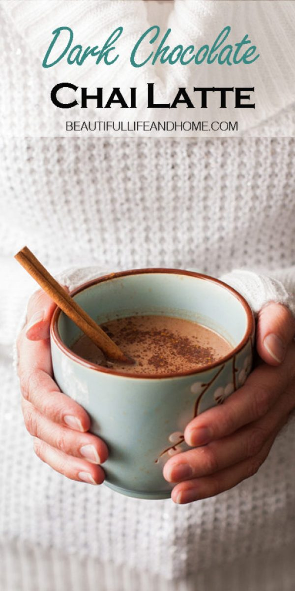 If you love chocolate and you love chai, this Dark Chocolate Chai Latte is calling your name! Rich and creamy with whole milk and cream along with real chocolate and all the chai spices you love!