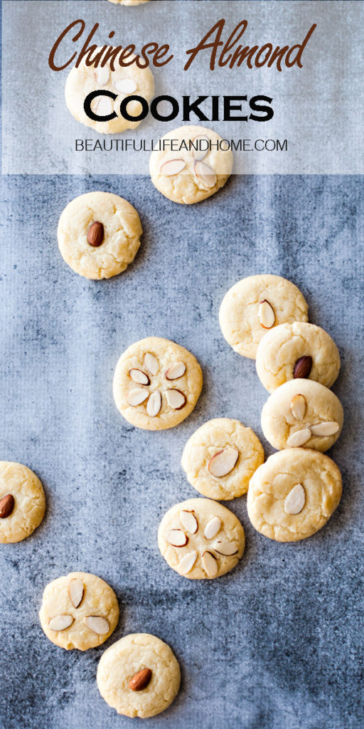 Look no further for traditional Chinese cookies! These Chinese Almond Cookies are the PERFECT dessert for any Chinese meal! They're kind of like a cross between a shortbread cookie and a sugar cookie flavored with almond extract and topped with either whole or slivered almonds.