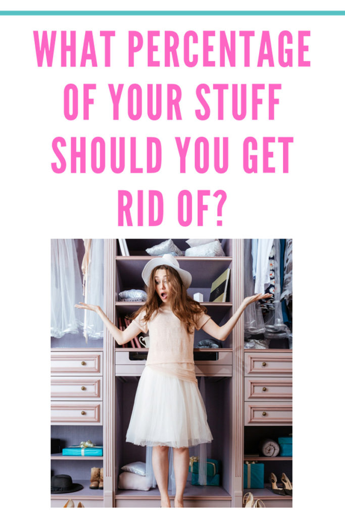 If you want to declutter but you're afraid of having to part with too much stuff, this post is for you! How much do you really need to part with? Find out what a professional organizer has to say.
