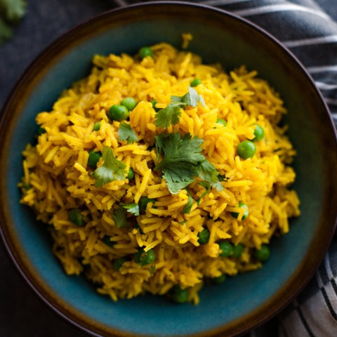 Indian Rice with Peas