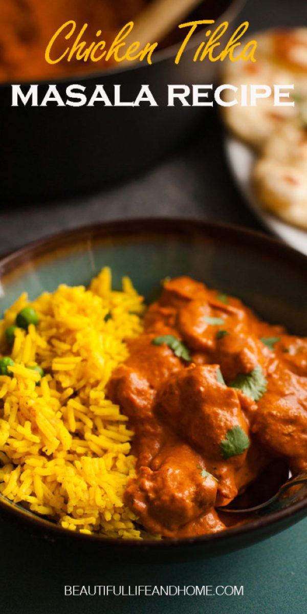 Get the best, easy Indian Chicken Tikka Masala recipe right here! Tender chicken in a creamy tomato sauce with mild Indian spices. The essential Indian dish to add to your repertoire!