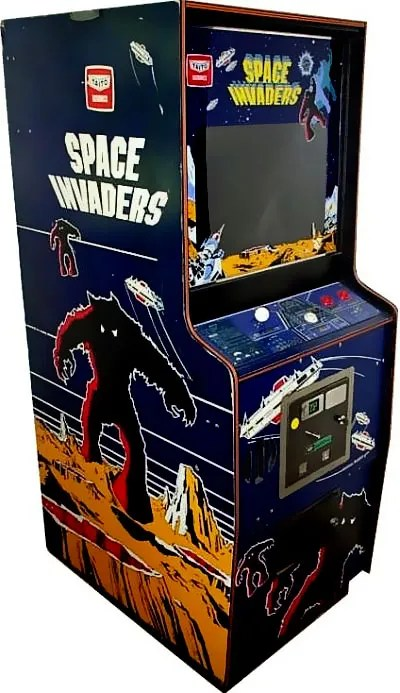 Space Invaders on an arcade machine