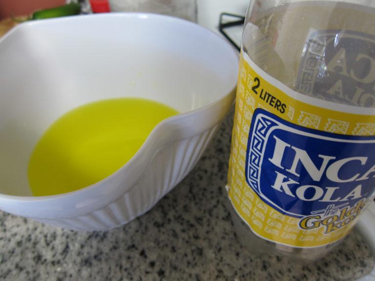 Preparing the soda