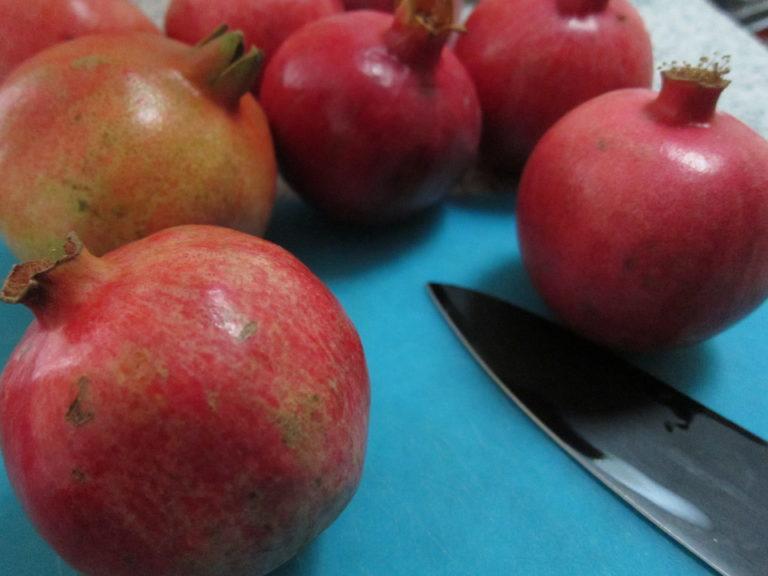 Whole pomegranates