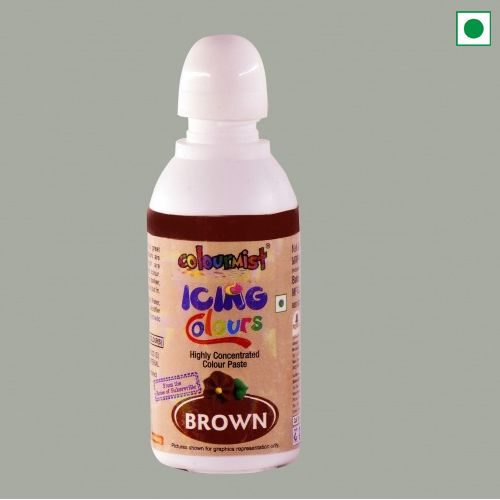 COLOURMIST ICING COLOURS 25GM BROWN