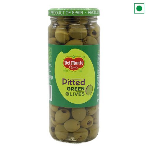 DELMONTE OLIVE GREEN PITTED 450g