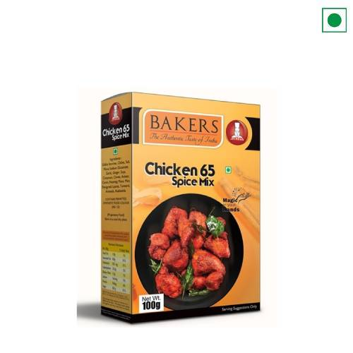 BAKERS CHICKEN 65 SPICE MIX 100GM