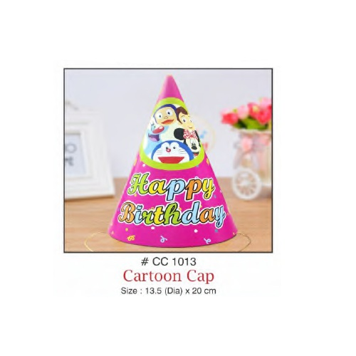 BIRTHDAY CAP – CARTOON  DESIGN