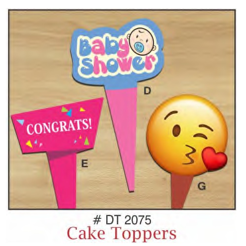 CAKE TOPPERS BABY SHOWER  10 PIECE