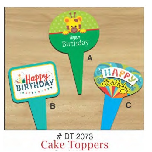 CAKE TOPPERS HAPPY BIRTHDAY 10 PIECE