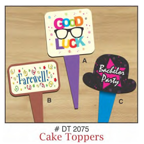 CAKE TOPPERS GOOD LUCK 10 PIECE