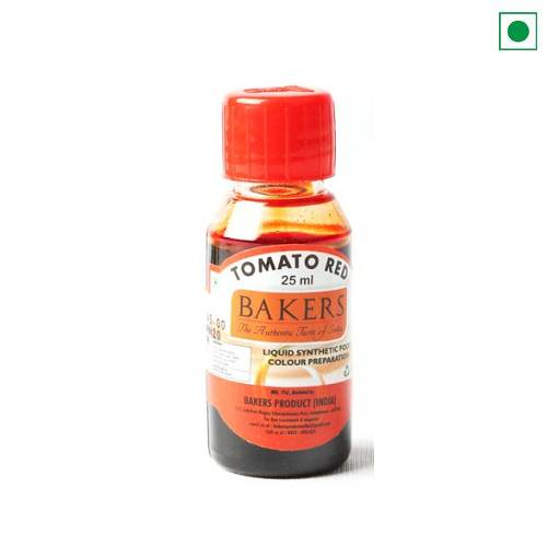 BAKERS LIQUID FOOD COLOUR TOMATO RED 25ML