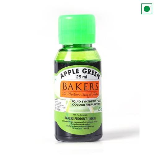 BAKERS LIQUID FOOD COLOUR APPLE GREEN 25ML