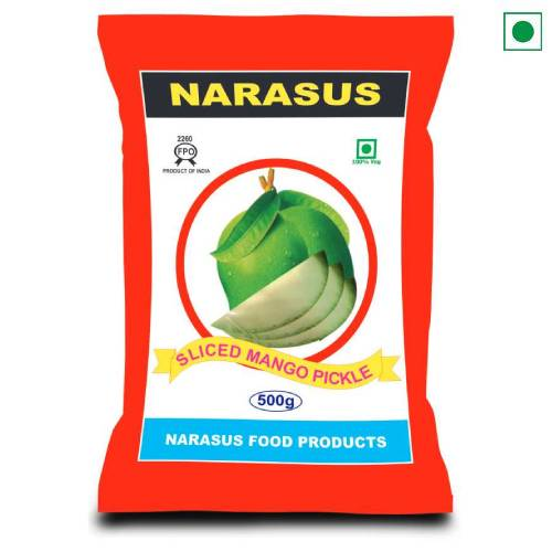 NARASU SLICED MANGO PICKLE POUCH 500GM