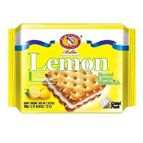 BELLIE LEMON CREAM BISCUIT 190g