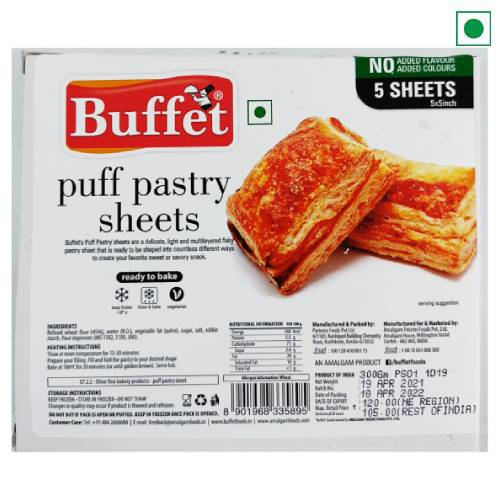 BUFFET PUFF PASTRY SHEETS 300g