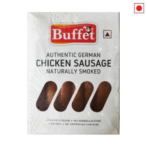 BUFFET AUTHENTIC GERMAN CHICKEN SAUSAGE NATURALLY SMOKED 400g