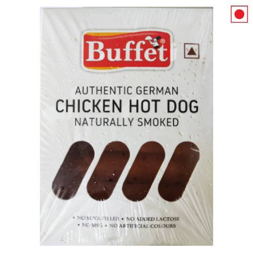 BUFFET AUTHENTIC GERMAN CHICKEN HOT DOG NATURALLY SMOKED 300g