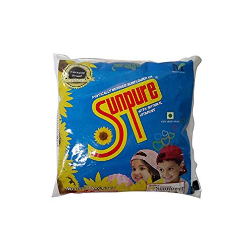 SUNPURE REFINED COOKING OIL – SUNFLOWER POUCH 500 ml