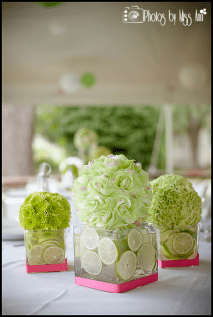 lime-green-and-pink-destination-wedding-centerpieces