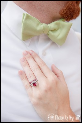 groom-with-lime-green-bowtie-bride-with-ruby-engagement-ring-photos-by-miss-ann