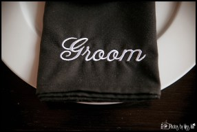 embroidered-black-and-white-groom-napkin-iceland-wedding-reception
