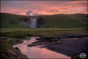 sunrise-skogafoss-waterfall-iceland